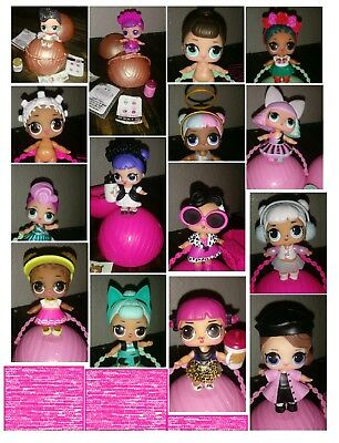 Lot 1 - Lol Big Sister Surprise Dolls *authentic* / Complete Your Series- New