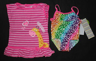 NWT Disney Store Minnie Mouse Sz 12-18 or 18-24 M Swimsuit Sunglasses /& Coverup