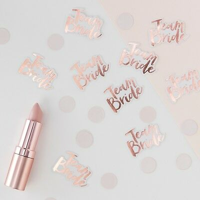 Team Bride Rose Gold Table Scatter Confetti Wedding / Hen Party Accessories