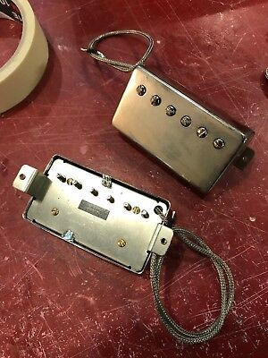 Sonicmonkey Hand Wound 62 Vintage PAF Humbucker Double Black Aged Nickel Covers