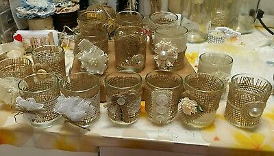 15 Rustic Vintage Country Style Hessian Votive Candle Holders