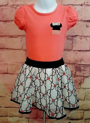 Disney Junior Minnie Mouse Toddler 2 Pc Outfit Set Top & Skort Sz 4T NWT