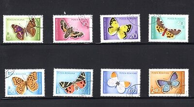 Romania 1969 Butterflies and Moths SG 3649/56 Used
