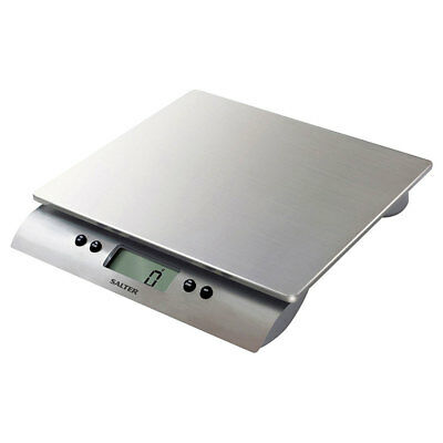 Salter Aquatronic 10kg Electronic Kitchen Scale Stainless Steel w Liquid Measure
