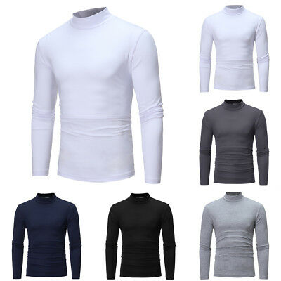 best selling various styles classic fit MENS ROLL NECK Long Sleeve High Quality Cotton Top Polo Neck ...