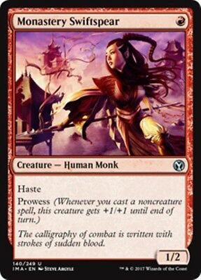 MONASTERY SWIFTSPEAR Iconic Masters MTG Red Creature — Human Monk Unc