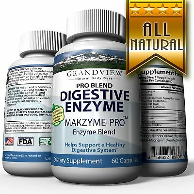 Digestive Enzyme Pro Blend - All Natural Stomach Support For Better Digestion An