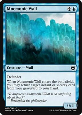MNEMONIC WALL Iconic Masters MTG Blue Creature — Wall Com