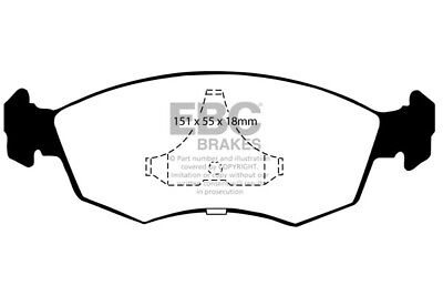 EBC Yellowstuff Front Brake Pads for Ford Granada 2.9 (92 > 94)