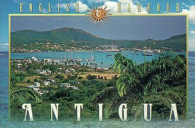 Falmouth and English Harbour from Horsford Hill, Antigua, Caribbean --- Postcard