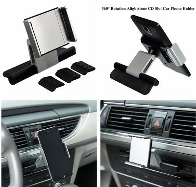 Universal Car CD Slot Holder Mount For Cell Phone GPS iPhone Samsung Sat Nav