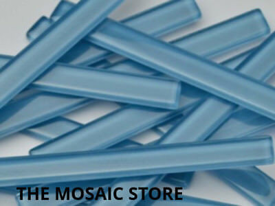 Light Blue Crystal Glass Mosaic Tile Strips 10x98x4mm (U12) - Art & Craft Suppli