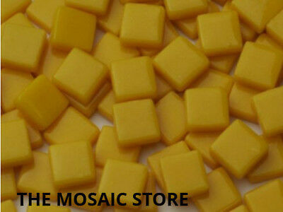 Light Orange Gloss Glass Tiles 1cm - Mosaic Tiles Art & Craft Supplies