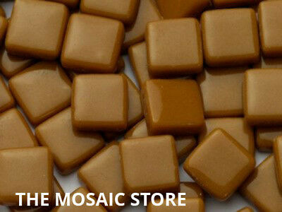 Toffee Gloss Glass Tiles 1cm - Mosaic Tiles Art & Craft Supplies