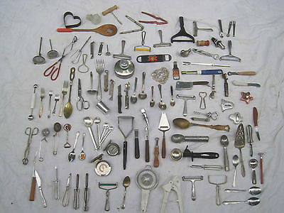 100+ Mega lot vintage kitchen gadget utensil retro cook cooking chef quality