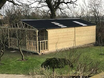 REDWOOD Heavy Duty Timber/wooden summerhouse shed/building - 16.7ft x 30ft