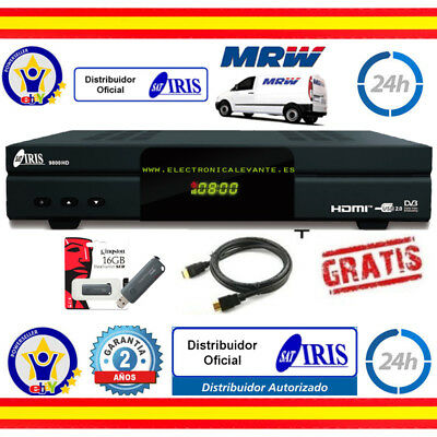 decodificador  IRIS 9800 HD WIFI + CABLE HDMI + REGALO USB 16GB. MRW 24H