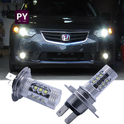2pcs H7 Cree_XBD LED Fog Light DRL Extremely Bright than Xenon White Bulbs BMW