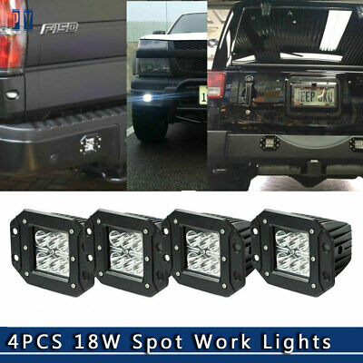 "4x 4"" INCH LED Work Light Bar Spoot Pods Cube Lens Offroad Lamp Truck ATV 4WD"