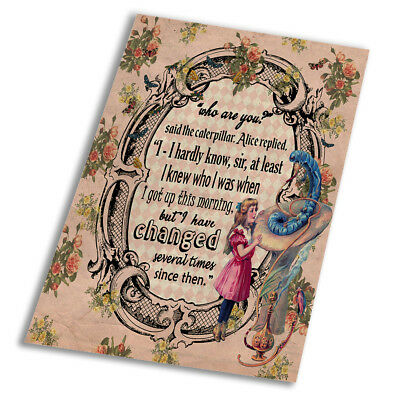 Alice In Wonderland Changed - Vintage Art Print Poster - A1 A2 A3 A4 A5