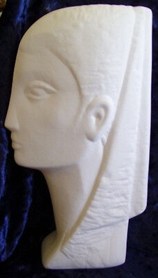 Ready to Paint Ceramic Bisque- Modern Stone Carved like Bust