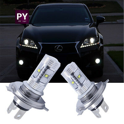 Pair Cree_XBD H4 9003 HB2 30W LED Fog Light Bulb High Low Beam Headlights CA