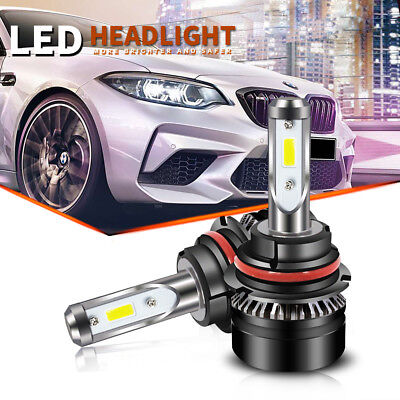 Car 9007 HB5 LED Headlight Bulbs 144w 32000Lm Hi/Lo Dual Beam Chevrolet Chrysler