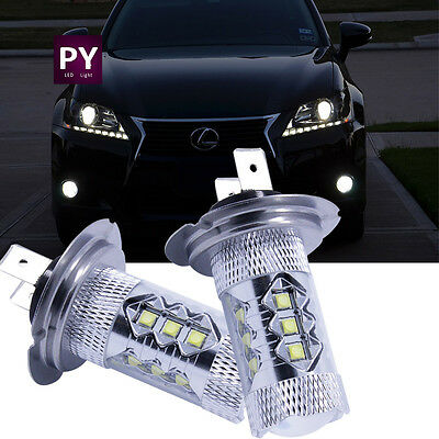 2pc Cree_XBD chip H4 9003 HB2 80W LED Fog Light Bulb High Low Beam Headlights CA