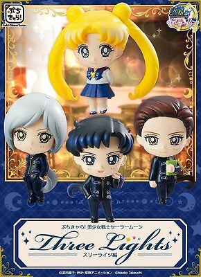 Sailor Moon Petit Chara Three Lights Stars LIMITED EDITION Megahouse 4 figures