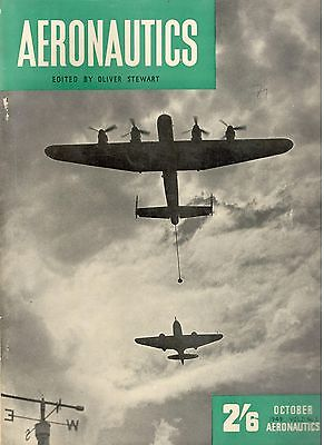 1949 OCTOBER 25331 AERONAUTICS Cover Picture  GLOSTER METTEOR FIGHTER