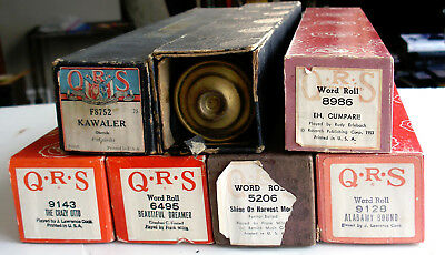 Lot of 7 VINTAGE QRS PLAYER PIANO ROLLS- Music Nickelodeon- (see titles)
