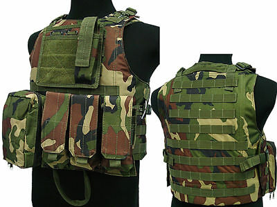 Tactical Assault Molle Combat Vest Magazine Pouch Airsoft Paintball Military WC