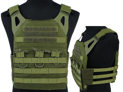 Tactical JPC Combat Vest Molle Assault Airsoft Paintball Military OD