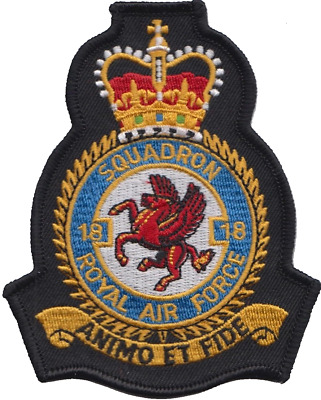No. 18 (B) Squadron Royal Air Force RAF Crest MOD Embroidered Patch