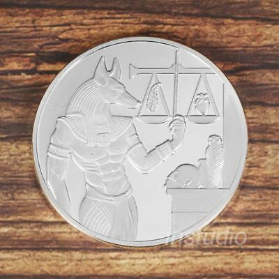 Silver Anubis Egypt Triangle Round Iron Commemorative Coin Coins Collection