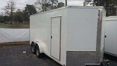 New 7x14 + V Nose Enclosed Trailer UTV RZR 4 WHEELER RANGER ATV
