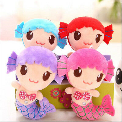 Plush Sea-maid Mermaid Princess Stuffed Crystal Toys Baby Girls Dolls Toy JDUK