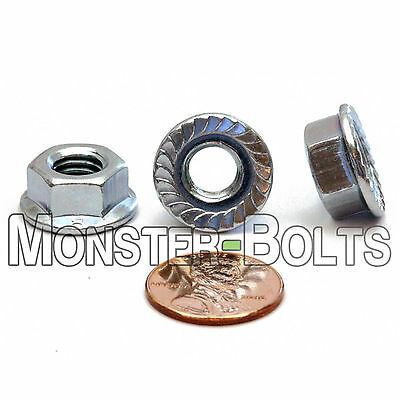 Metric Zinc Hex Flange Lock Nuts DIN 6923 Class 8 Alloy Steel M3 M4 M5 M6 M8 M10