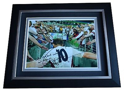 Jonny Wilkinson SIGNED 10x8 FRAMED Photo Autograph Display England Rugby Union