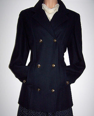 Laura Ashley Vintage Pure New Wool Double Breasted Classic Jacket/blazer 10/12