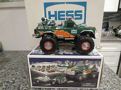 2007 Hess Toy Monster Truck and Motorcycles- NIB