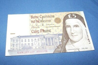 5 FIVE POUNDS CENTRAL BANK OF IRELAND Dated 15-03-94