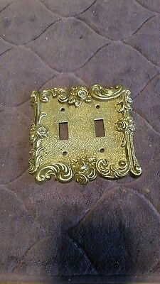 Vintage 1967 American Tack & Hardware Double Switch Plate Cover #60TT FREE SHIP