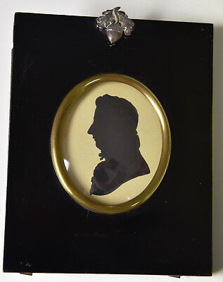 Antique Early 19th Century Man Silhouette Bust circa 1820