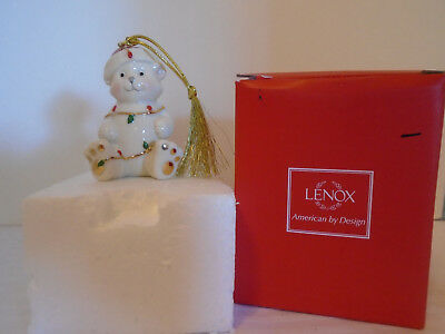 Lenox Very Merry Porcelain Bear Christmas Ornament