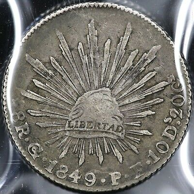 1849Go-PF EIGHT 8 REALES MEXICO