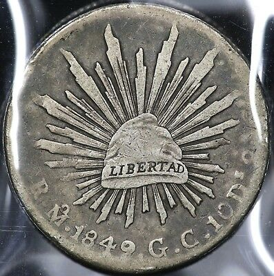 1849Mo-GC EIGHT 8 REALES MEXICO