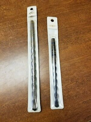 "2 A-taper hammer drill bits new in package 3/8"" & 5/16"""