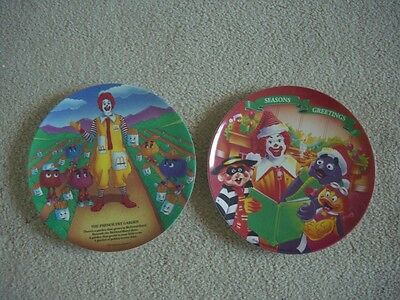 McDonald's Plastic Plates Lot of Two from 1989 and 1995