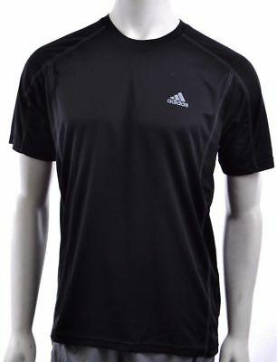Adidas Climalite Men's Performance T-Shirt - Black - M L XL & XXL *NEW W/ TAGS*